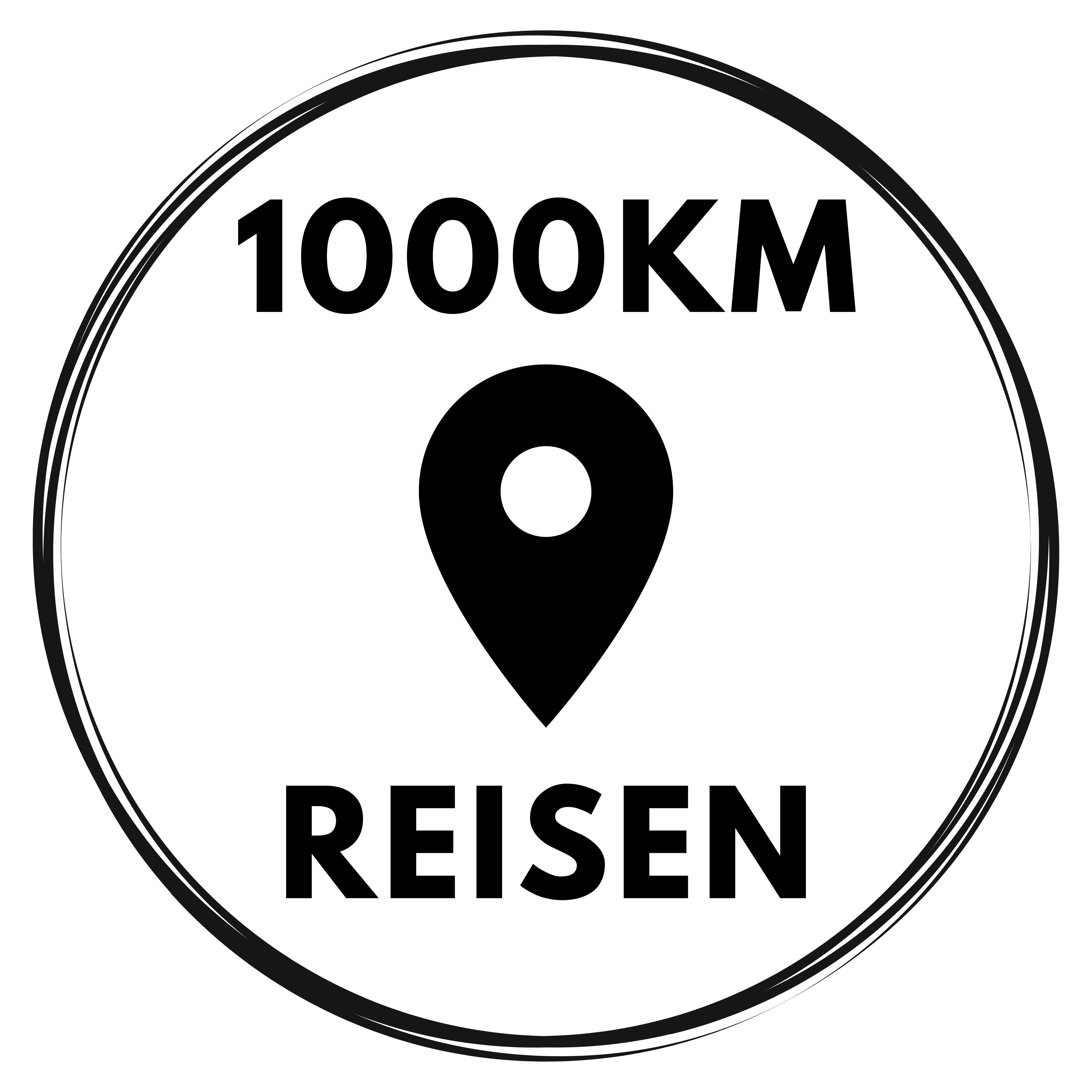 1000KM Reisen Logo